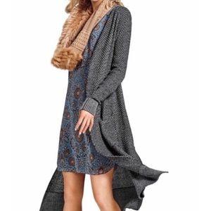 Cabi Lara Gray Long Cardigan Sweater SZ S